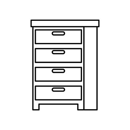 wooden drawer forniture isolated icon vector illustration design Stockfoto - 134338704