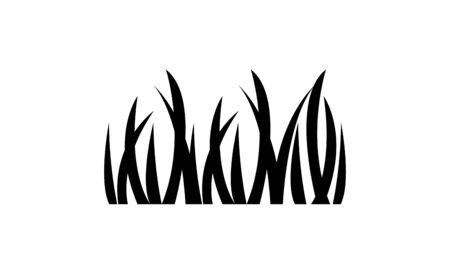 grass plants nature isolated icon vector illustration design