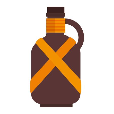 water canteen camping accessory icon vector illustration design