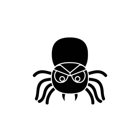 halloween spider insect isolated icon vector illustration design 矢量图像