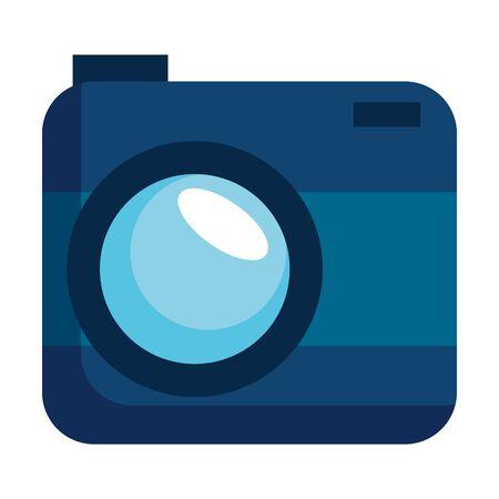 camera photographic technology device icon vector illustration design