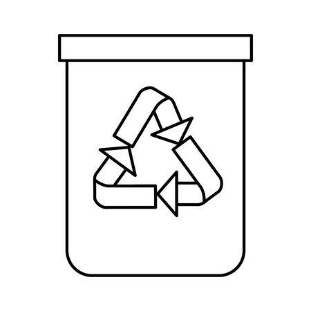 recycle bin waste isolated icon vector illustration design Vektoros illusztráció
