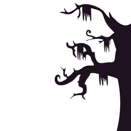 halloween haunted dry tree isolated icon vector illustration design 일러스트