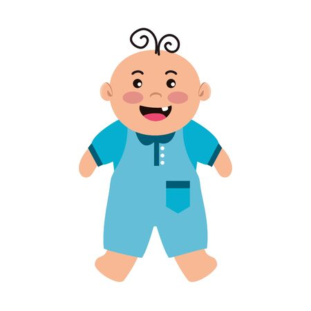 cute little baby boy character vector illustration design