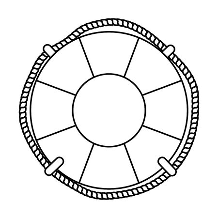 marine float ship isolated icon vector illustration design