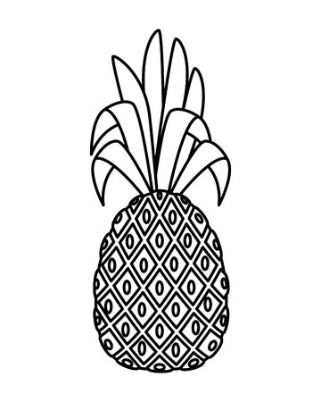 summer fresh fruit pineapple icon vector illustration design 向量圖像