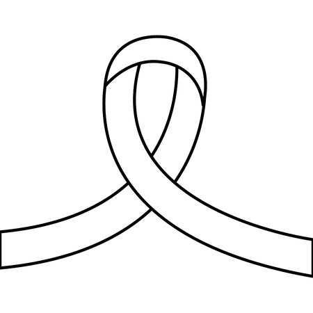 ribbon campaign line style icon vector illustration design
