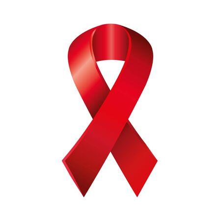 Ruban de sensibilisation à la journée du sida icône isolé conception d'illustration vectorielle Vecteurs