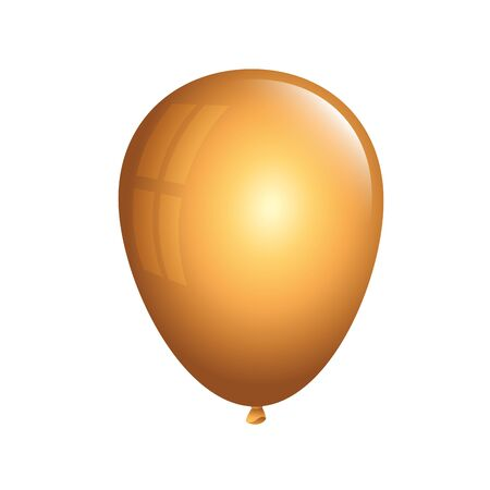 balloon helium golden isolated icon vector illustration design