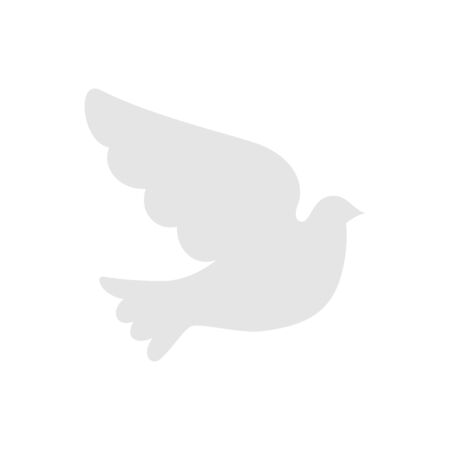 silhouette of dove animal isolated icon vector illustration design