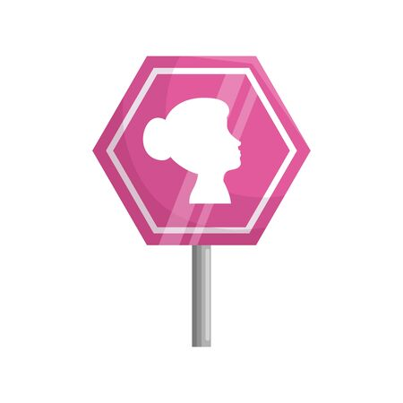 stick signage of the fight cancer against breast vector illustration design Ilustração