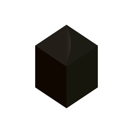 geometric figure cube isolated icon vector illustration design