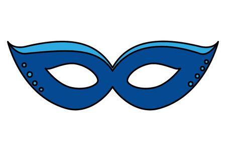 carnival mask celebration icon vector illustration design