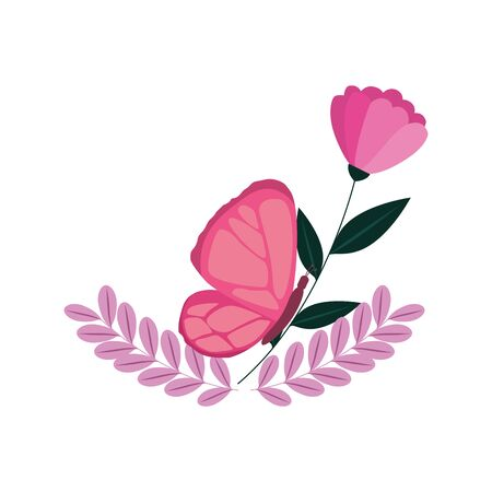 butterfly of the fight cancer against breast vector illustration design