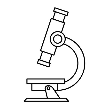 microscope laboratory supply isolated icon vector illustration design Illustration