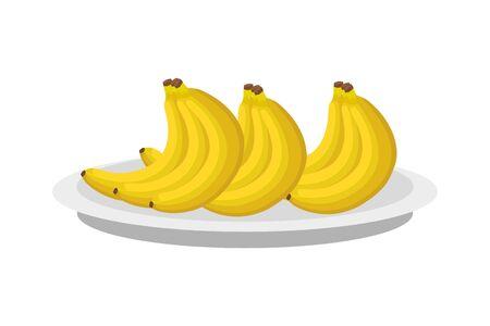 bananas design, Fruit healthy organic food sweet and nature theme Vector illustration Illustration