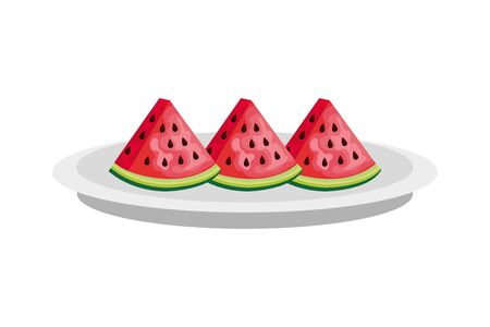 watermelons design, Fruit healthy organic food sweet and nature theme Vector illustration