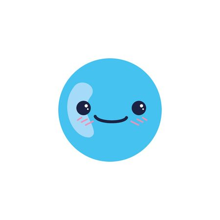 Sphere cartoon design, Kawaii expression cute character funny and emoticon theme Vector illustration