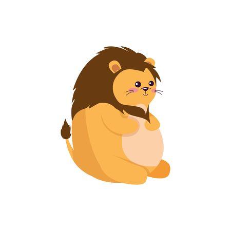 Lion cartoon design, Animal cute zoo life nature and fauna theme Vector illustration