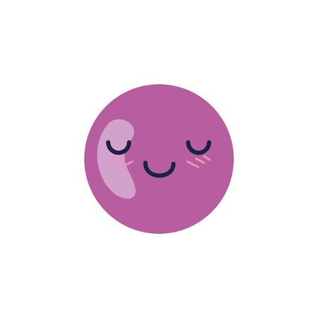 Sphere cartoon design, expression cute character funny and emoticon theme Vector illustration