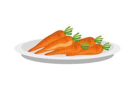 Légumes frais et sains icône isolé conception d'illustration vectorielle Vecteurs