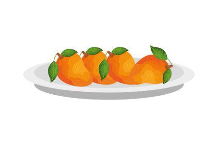 Mangos design, Fruit healthy organic food sweet and nature theme Vector illustration