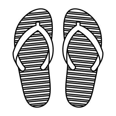 summer flip flops accessories icon vector illustration design Vector Illustration