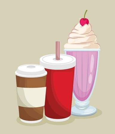 tasty and yummy ice cream vector illustration graphic design Illustration