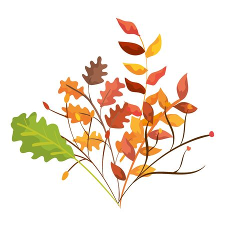 autumn branches with leafs isolated icon vector illustration design Ilustracja