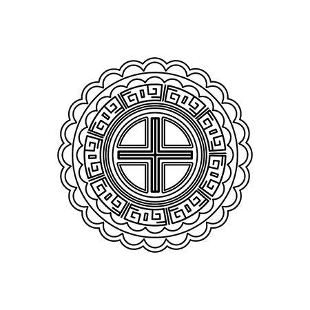 chinese mandala decorative isolated icon vector illustration design Ilustracja