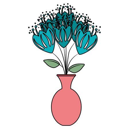 vase with roses icon vector illustration design Ilustracja