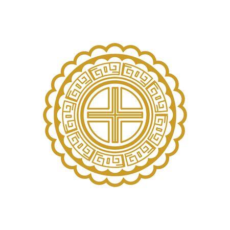 chinese mandala decorative isolated icon vector illustration design Ilustração