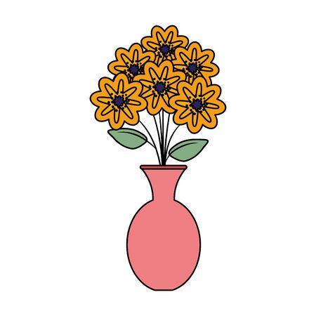 vase with flowers icon vector illustration design Ilustracja