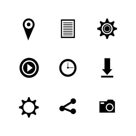 bundle social media set icons vector illustration design Stok Fotoğraf - 134636313