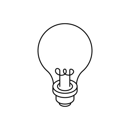 light bulb idea line style icon vector illustration design Ilustração