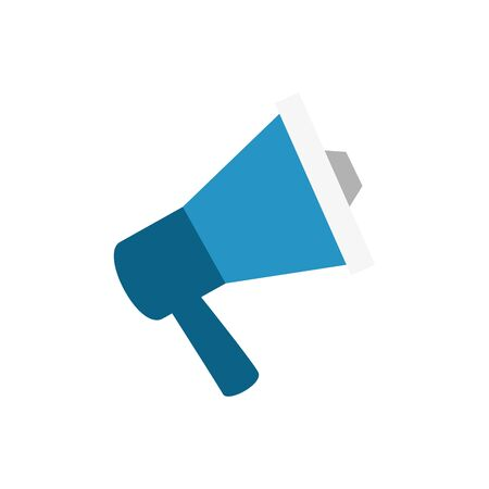Megaphone icon design, Amplifer speaker bullhorn announce speech message communication and sound theme Vector illustration
