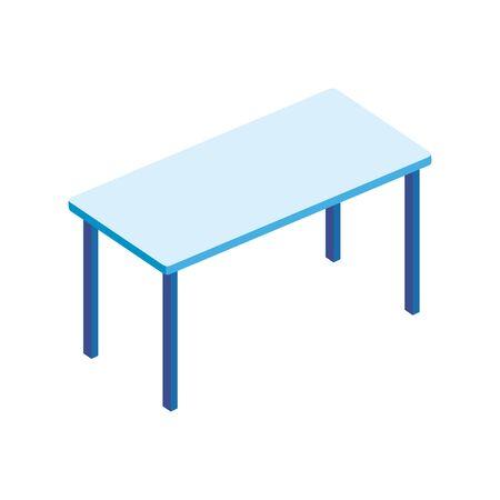 Tisch Rechteck Möbel isoliert Symbol Vektor Illustration Design