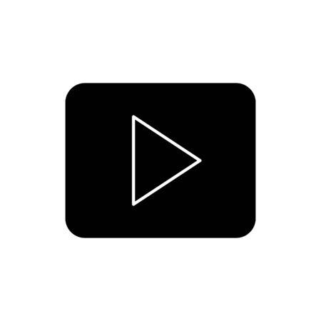 silhouette of button play symbol isolated icon vector illustration design Foto de archivo - 134732388