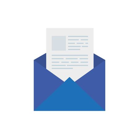 envelope mail communication isolated icon vector illustration design