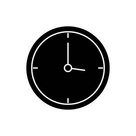 silhouette of clock wall time isolated icon vector illustration design Çizim