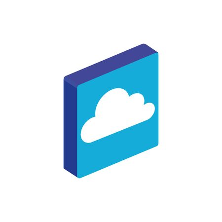 Cloud icon design, Digital technology communication social media internet and web theme Vector illustration