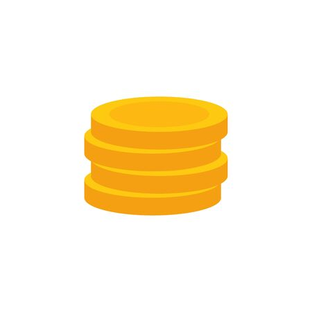 Coins design, Money finance commerce market payment invest and buy theme Vector illustration