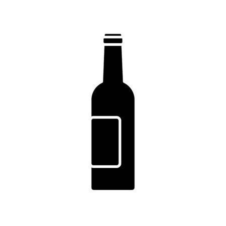 Beer bottle design, Pub alcohol bar brewery drink ale and lager theme Vector illustration Illustration