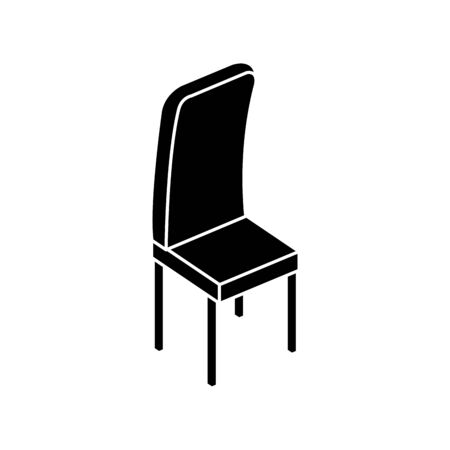 silhouette of wooden chair furniture isolated icon vector illustration design Ilustração