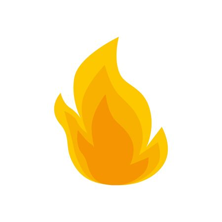 fire flame symbol isolated icon vector illustration design