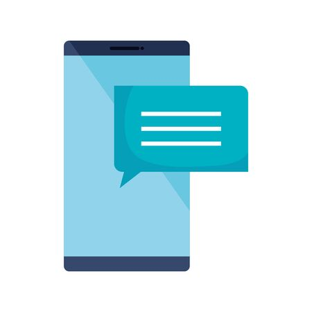 smartphone device with speech bubble isolated icon vector illustration design Ilustrace
