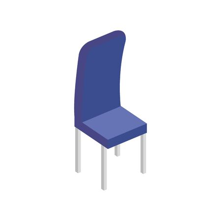 wooden chair furniture isolated icon vector illustration design Foto de archivo - 134742650