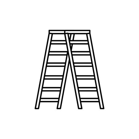 Ladder design, Step construction climb work stairway tool and repair theme Vector illustration