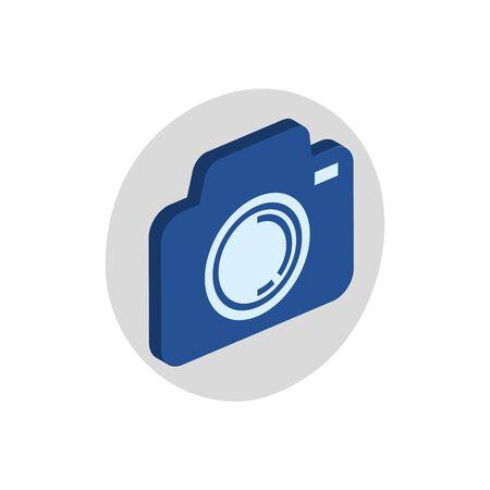 Isomatric camera design, Device gadget technology photography equipment digital and photo theme Vector illustration