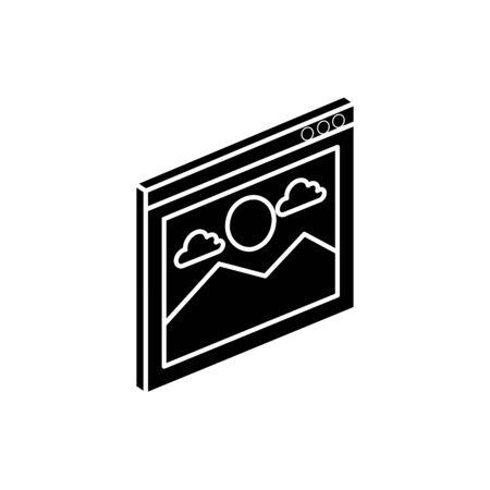 Gallery icon design, Digital technology communication social media internet and web theme Vector illustration